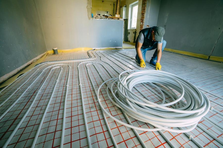 underfloor heating fitting
